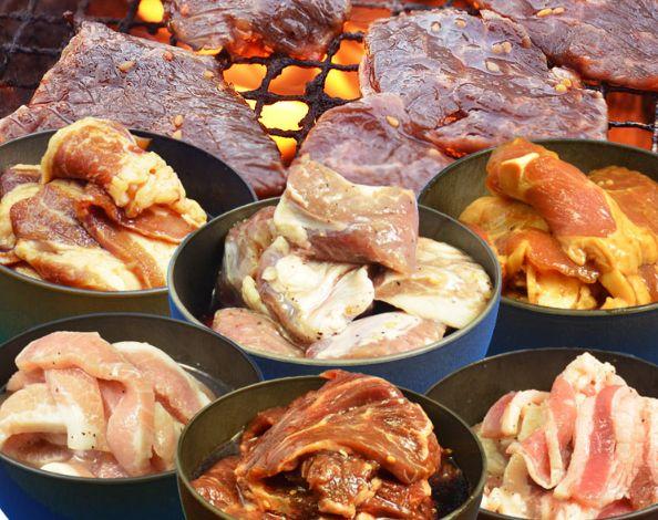 他の肉と一緒に食べる